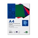 Tapa encuadernación Liderpapel cartón tamaño A4 1 mm color azul paquete de 50