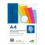 Tapa encuadernación Liderpapel polipropileno ondulado tamaño A4 0.8 mm color verde
