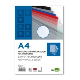 Tapa encuadernación Liderpapel polipropileno rayado tamaño A4 0.5 mm color roja