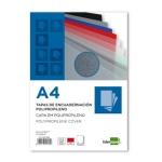Tapa encuadernación Liderpapel polipropileno tamaño A4 0.8 mm color roja paquete de 50 tapas