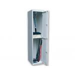 Taquilla metálica ar storage 50x180x40 cm 2 puertas con llave color gris inicial