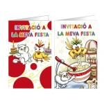 Tarjeta de invitación Arguval fantasía kitty blister 8 unidades surtidas catalan