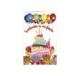Tarjeta de invitación Arguval fiesta color infantil tarta blister 8 unidades surtidas