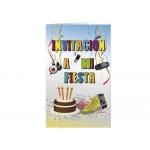 Tarjeta de invitación Arguval fiesta juvenil B blister 8 unidades surtidas