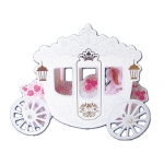 Tarjeta postal Arguval carroza de boda 3d modelos color surtidos