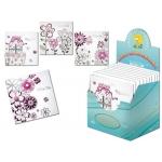 Tarjeta postal Arguval color rosa y plata modelos surtidos