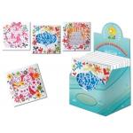 Tarjeta postal Arguval flores troqueladas modelos color surtidos