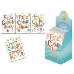 Tarjeta postal Arguval letras feliz cumpleaños modelos color surtidos