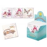 Tarjeta postal Arguval pastel modelos color surtidos