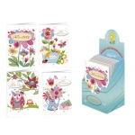 Tarjeta postal Arguval primavera modelos color surtidos catalan