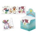 Tarjeta postal Arguval romántica modelos color surtidos