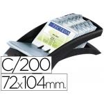 Tarjetero Duraclip visifix color negro 100 fundas para 200 tarjetas tamaño 72x104 mm incluye separador az
