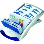 Tarjetero Duraclip visifix color plata 100 fundas para 200 tarjetas tamaño 72x104 mm incluye separador az