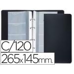 Liderpapel TJ01 - Tarjetero, con fundas intercambiables, para 120 tarjetas, color negro