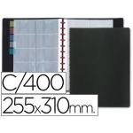 Liderpapel TJ02 - Tarjetero, con fundas intercambiables, para 400 tarjetas, color negro