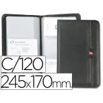 Tarjetero Wenger fanny para 120 tarjetas color negro 245x170 mm
