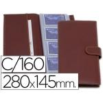 Tarjetero artesanía de piel capacidad 160 tarjetas visita 280x145 mm