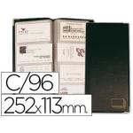 Tarjetero para tarjetas visita color negro simil piel para 96 unidades tamaño 252 x 113 mm