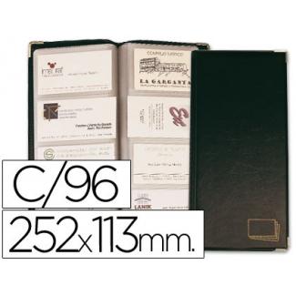 Csp - Tarjetero, símil piel, para 96 tarjetas, color negro