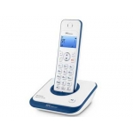 Teléfono inalámbrico spc Telecom color azul identificador de llamadas agenda pantalla