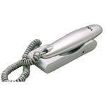Teléfono monopieza color gris .rellamada.tecla pausa adaptable a pared diseño tipogondola