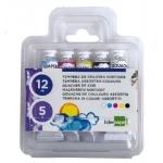 Tempera Liderpapel en tubo de alumino de 12 ml estuche de 5 tubos colores surtidos