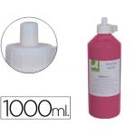 Tempera escolar Q-connect ml color rosa