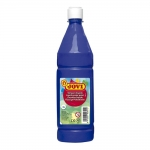 Tempera liquida Jovi escolar 1.000 ml color azul ultramar