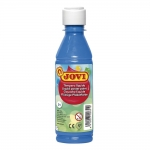 Tempera liquida Jovi escolar 250 ml color azul cyan