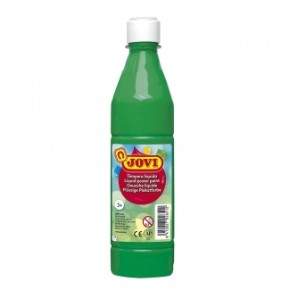 Jovi 50617 - Témpera líquida, color verde medio, bote de 500 ml