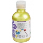 Liderpapel TP41 - Témpera líquida, color amarillo metalizado, bote de 300 ml