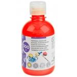 Tempera liquida Liderpapel escolar 300 ml color rojo fluorescente