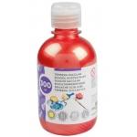 Tempera liquida Liderpapel escolar 300 ml color rojo metalizado
