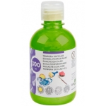 Liderpapel TP51 - Témpera líquida, color verde fluorescente, bote de 300 ml