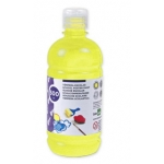 Tempera liquida Liderpapel escolar 500 ml color amarillo limon