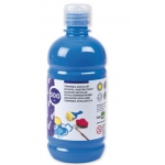 Liderpapel TP14 - Témpera líquida, color azul, bote de 500 ml