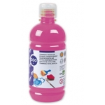 Liderpapel TP07 - Témpera líquida, color fucsia, bote de 500 ml