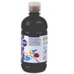 Tempera liquida Liderpapel escolar 500 ml color negro
