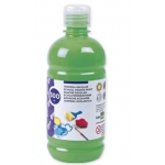 Tempera liquida Liderpapel escolar 500 ml color verde