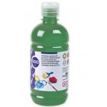 Tempera liquida Liderpapel escolar 500 ml color verde oscuro