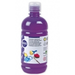 Tempera liquida Liderpapel escolar 500 ml color violeta