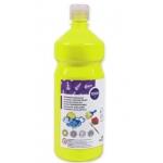 Tempera liquida Liderpapel escolar 1000 ml color amarillo limon