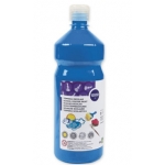 Tempera liquida Liderpapel escolar 1000 ml color azul