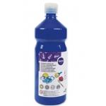 Tempera liquida Liderpapel escolar 1000 ml color azul marino