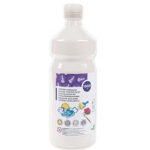 Tempera liquida Liderpapel escolar 1000 ml color blanco