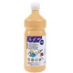 Tempera liquida Liderpapel escolar 1000 ml color carne