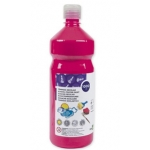 Tempera liquida Liderpapel escolar 1000 ml color fucsia