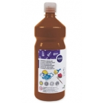 Tempera liquida Liderpapel escolar 1000 ml color marron