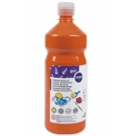 Tempera liquida Liderpapel escolar 1000 ml color naranja