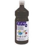 Tempera liquida Liderpapel escolar 1000 ml color negro